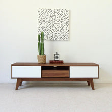 "Load image into Gallery viewer, 59 ""Dominique"" Low Profile Credenza With Sliding Doors"