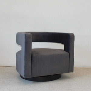 Petra Grey Swivel Lounge Chair