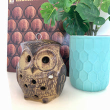 Load image into Gallery viewer, Hanging owl candle holder