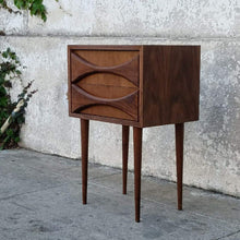 Load image into Gallery viewer, Sculpted Front Nightstand in American Walnut