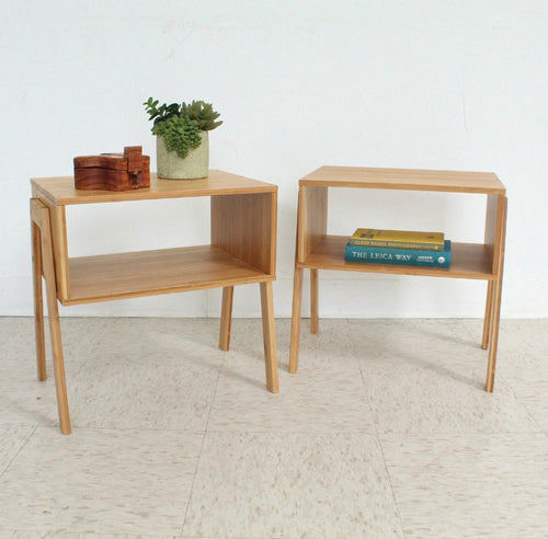 Low Profile Organic Wood Side Table