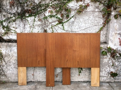 Mid Century Small Twin Headboard and Footboard