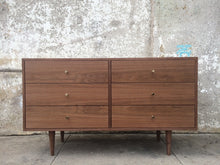 Load image into Gallery viewer, Handcrafted American Walnut 6 Drawer Dresser