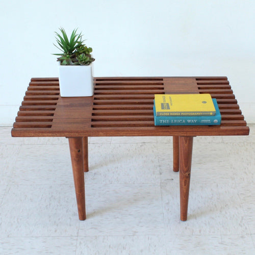 "Customized Short Slat Bench -30"" to 36"""