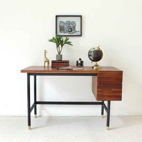 """Watson"" Solid Wood 2 Drawer Desk"
