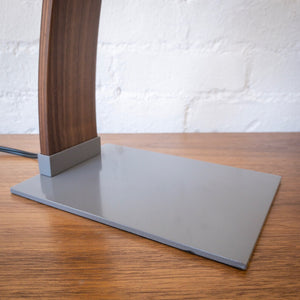Clark Desk Lamp in Grey & Walnut