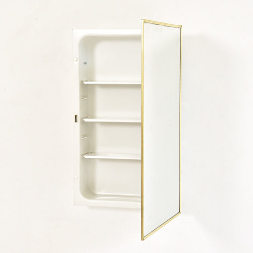 Gold Recessed Mount Medicine Cabinet