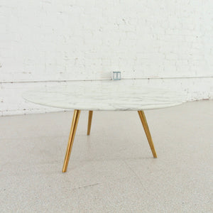PIA 28 Faux Marble Coffee Table with Gold Legs