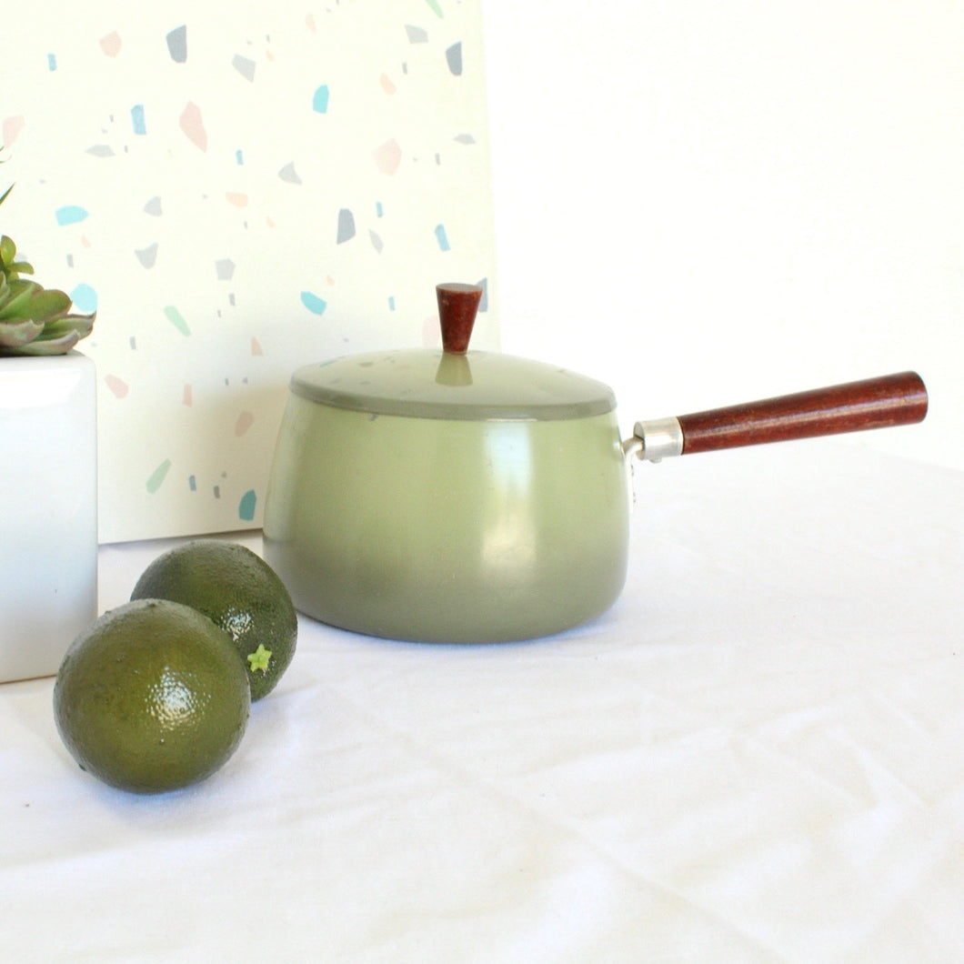 70's Green Fondue pot