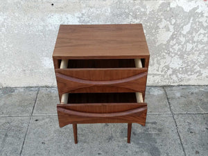 Sculpted Front Nightstand in American Walnut