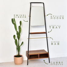 Load image into Gallery viewer, Wall Mounted Mirror Shelf