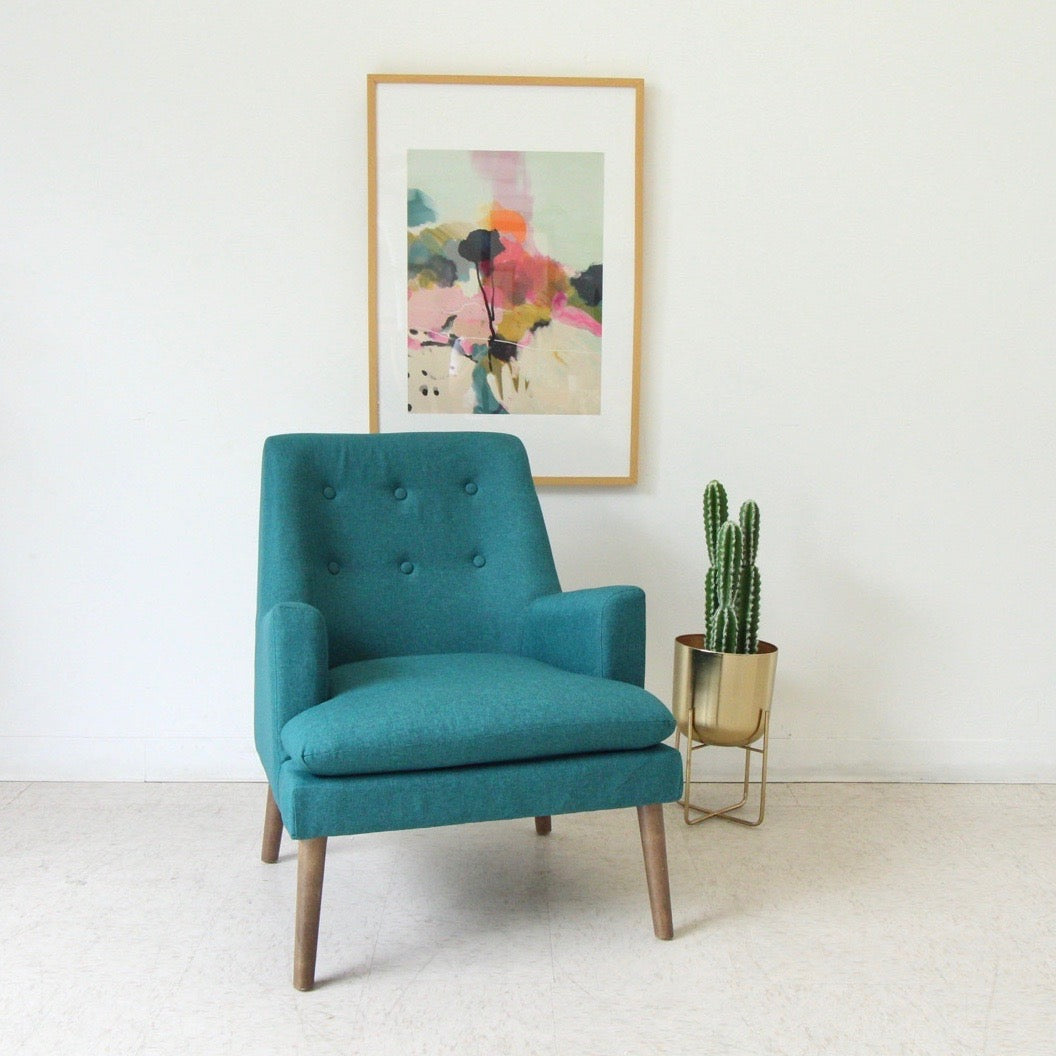Rowan Chair in Deep Teal Tweed
