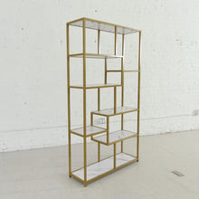 Load image into Gallery viewer, Valentina Faux Marble Gold Shelf