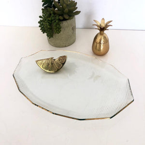 Gold Lined Serving Dish