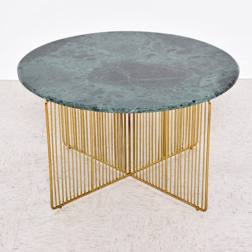 Green Onyx and Brass Coffee Table