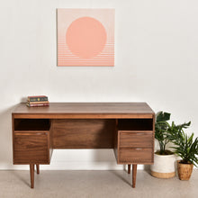 "Load image into Gallery viewer, ""Kurt"" Walnut Floating Desk by Sunbeam"