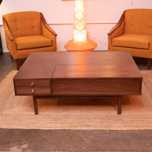 """Aviana"" Sunbeam Collection Walnut Coffee Table"
