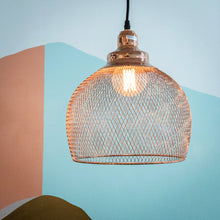 Load image into Gallery viewer, Copper Mesh Pendant Light Fixture