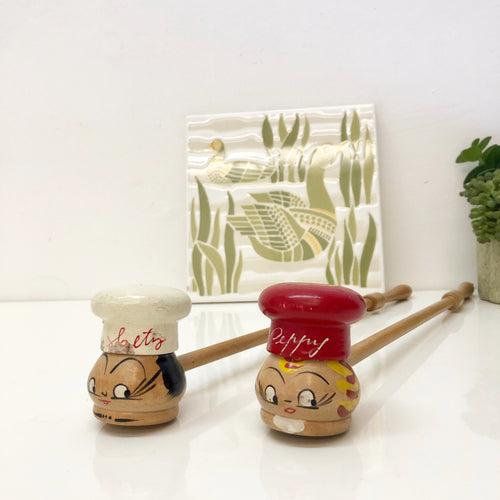 Salty and Peppy  Salt and Pepper Shakers