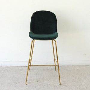 Serena Dark Green Brass Barstool