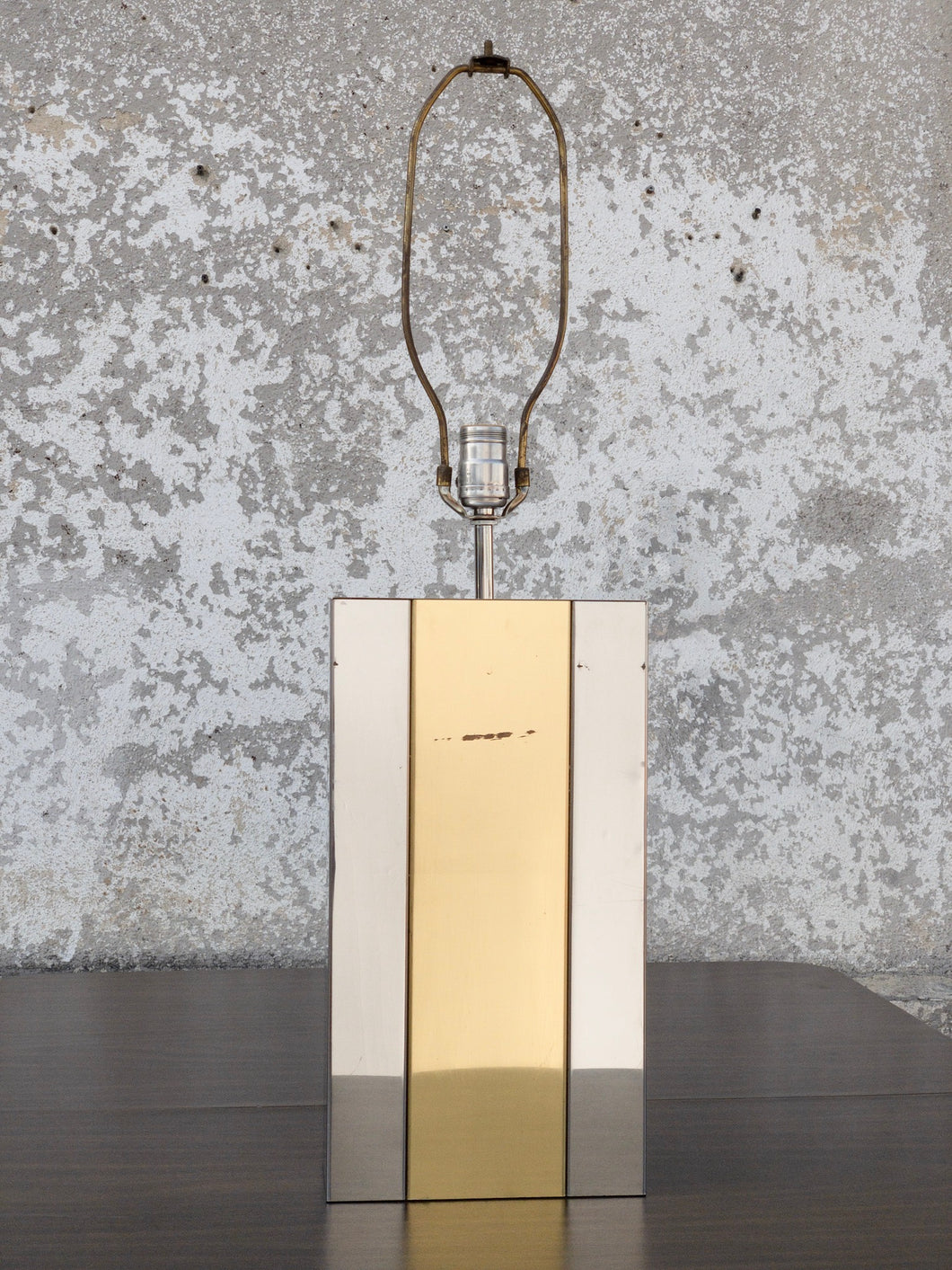 Brass & Chrome Accent Lamp