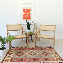 "Load image into Gallery viewer, ""HANA"" Boho Wicker Arm Chair"