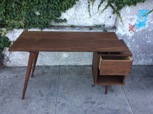 Load image into Gallery viewer, Walnut Mid Century Style Desk