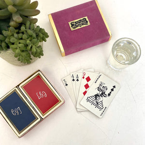 Super  Duratone playing cards in box set