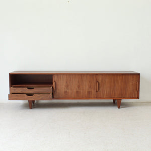 Low Profile Walnut Media Credenza