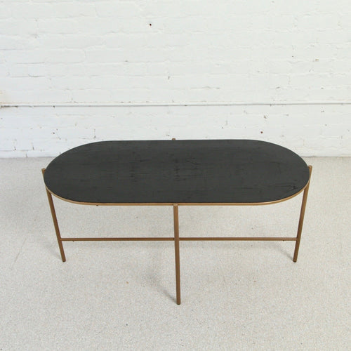Jackie Oval Enameled Coffee Table