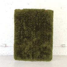 Load image into Gallery viewer, Olive Green Shag Rug