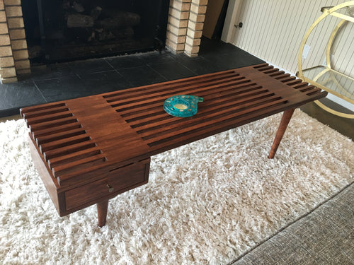 One Drawer Slat Coffee Table
