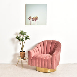 Space Odyssey Swivel Chair in Dusty Rose