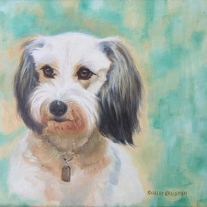 Oil Painting of a Dog Framed