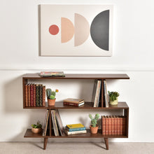 "Load image into Gallery viewer, ""Shelby"" American Walnut Bookshelf"