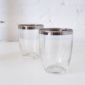 Pair of Dorthy Thorpe Glass Cups