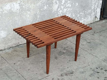 Load image into Gallery viewer, Short Wood Slat Bench