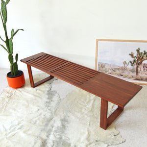 Joni Slatted Bench