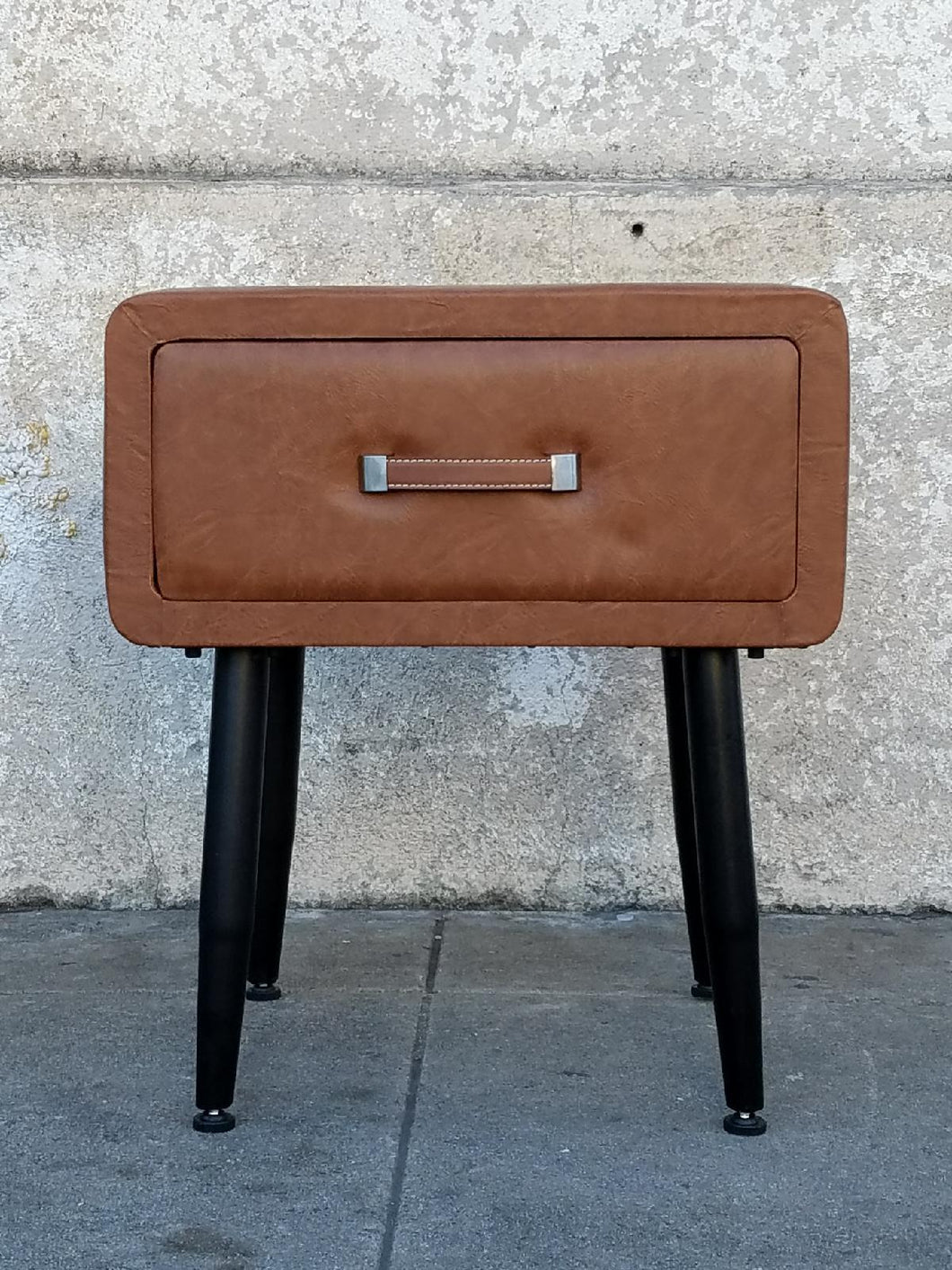 Leather Vintage Style Nightstand