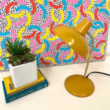 Load image into Gallery viewer, Mustard and Gold Desk Lamp