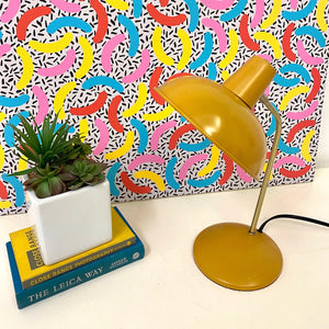 Mustard and Gold Desk Lamp