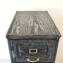 Load image into Gallery viewer, Antique Cerused Filing Cabinet