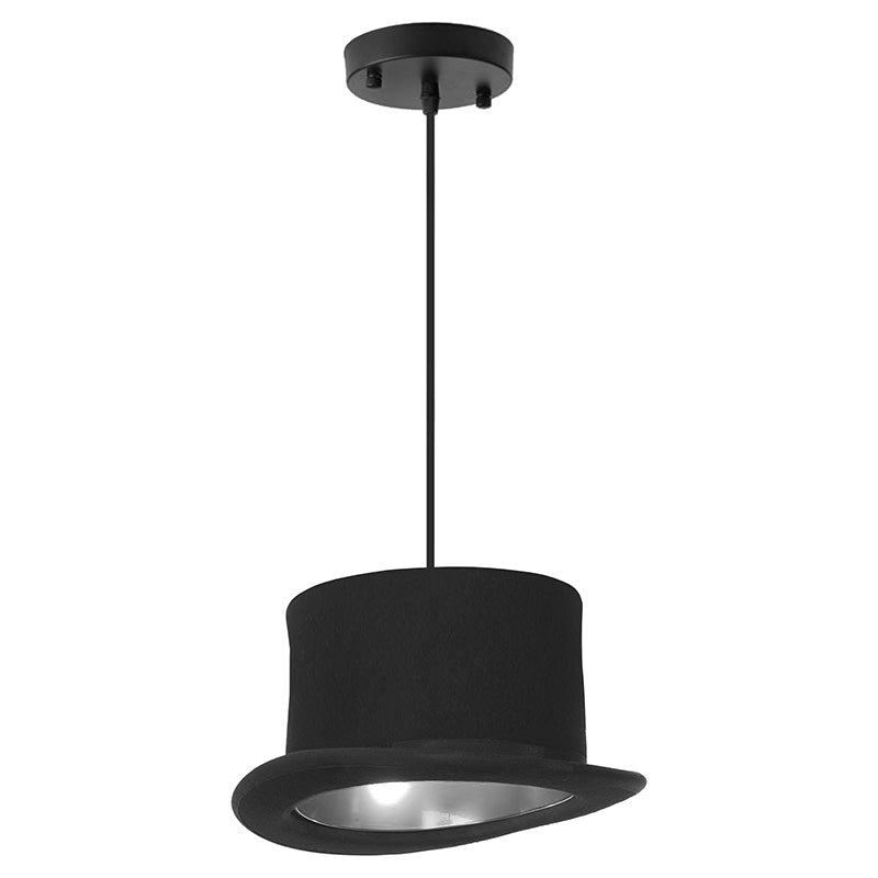 Black and silver Hanging Lamp Hat
