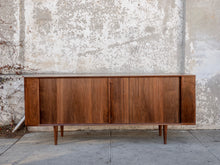 Load image into Gallery viewer, Tambour Door Credenza Solid Walnut