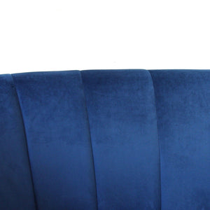 Vienna Blue Velvet Loveseat