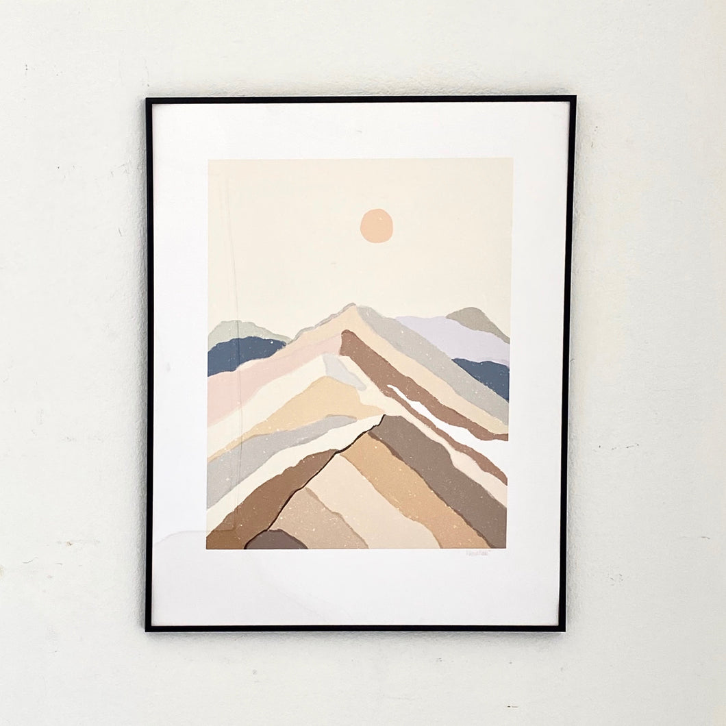 """Mountain Dream"" Art Print on Watercolor Paper"