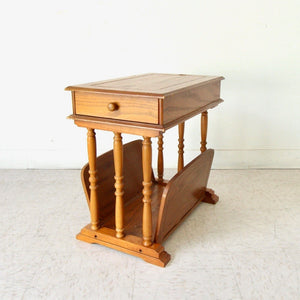 Vintage Oak End Table