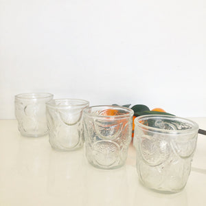 Orange Slice  Juice Glasses