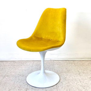 Bright Yellow New Tulip Chair Newly Upholstered