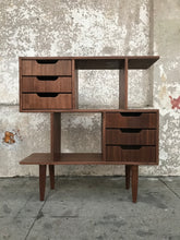 Load image into Gallery viewer, Wood Double Stacked Bookshelf in American Walnut